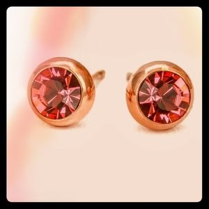 Gorgeous AAA Zircon Deep Pink 18K Rose Gold Plated